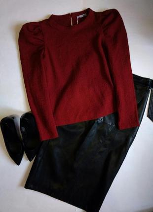 Блуза топ рукав фонарик от zara2