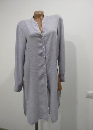 Стильная рубашка платье в полоску zara1