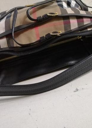 Burberry вместительная сумка,кожа /ткань5 фото