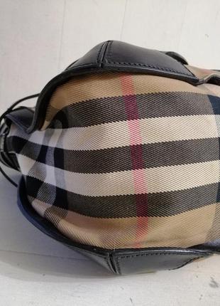 Burberry вместительная сумка,кожа /ткань6 фото