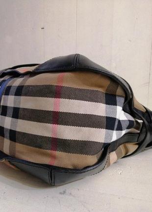 Burberry вместительная сумка,кожа /ткань7 фото