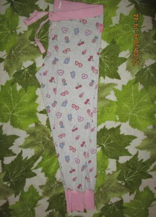 Домашние красивые трикотажные штаны,18-20р4