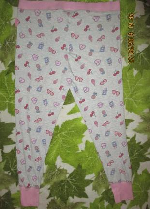 Домашние красивые трикотажные штаны,18-20р5