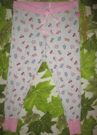 Домашние красивые трикотажные штаны,18-20р1