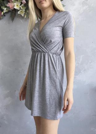 Серое платье boohoo2