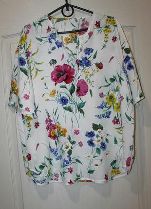 Очень красивая штапельная блузка1