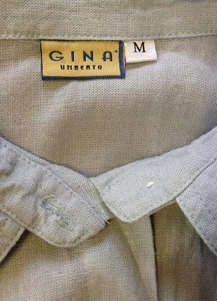 Натуральная туника с разрезами и вышивкой. /m/ brend gina umberto5
