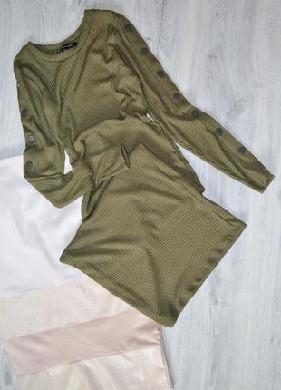 Сукня міді в рубчик new look2