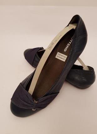 Bottero! бразилия! красивые удобные кожаные балетки темно- синего цвета2
