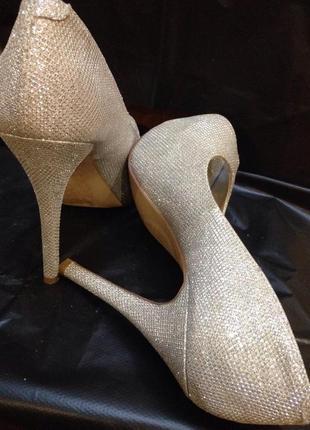 Шикарніе серебряные туфли от new look5