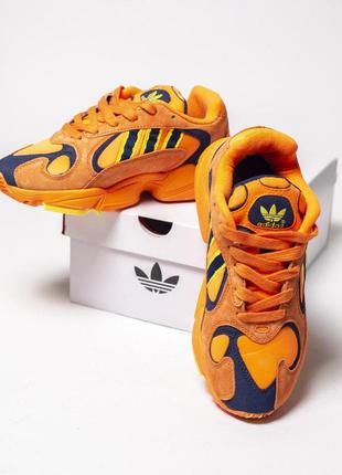 Нереально крутые кроссовки adidas в оранжевом цвете из замши////😍1