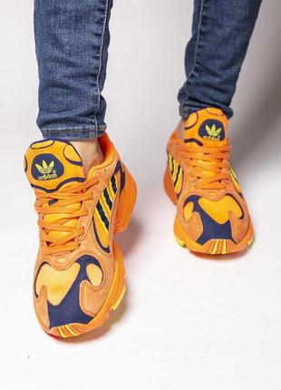 Нереально крутые кроссовки adidas в оранжевом цвете из замши////😍3