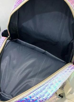 Рюкзак голографический для школы5