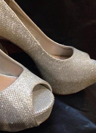 Шикарніе серебряные туфли от new look6