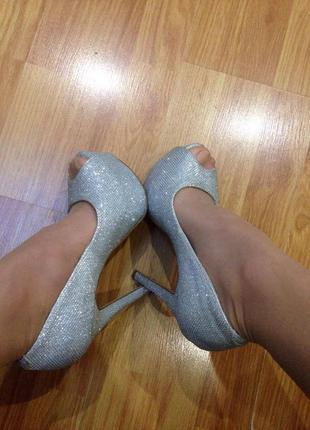 Шикарніе серебряные туфли от new look7