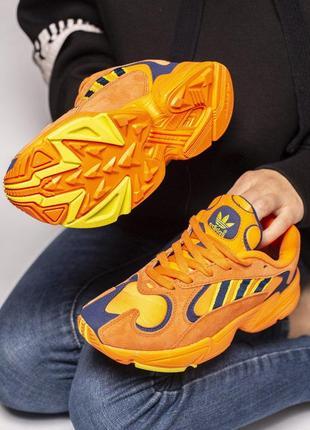 Нереально крутые кроссовки adidas в оранжевом цвете из замши////😍7
