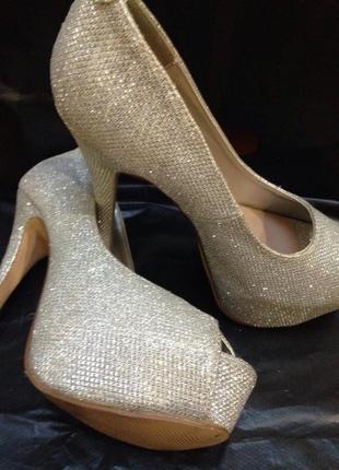 Шикарніе серебряные туфли от new look8