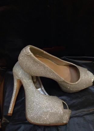 Шикарніе серебряные туфли от new look10