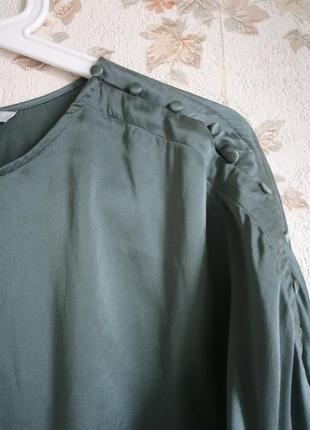 Блуза шелк цвет р. m  н&m3
