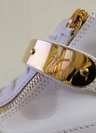 Giuseppe zanotti кожаные кеды.3 фото