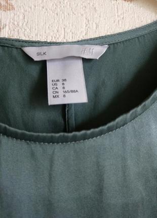 Блуза шелк цвет р. m  н&m4