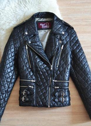 Шикарна куртка косуха з натуральної шкіри1