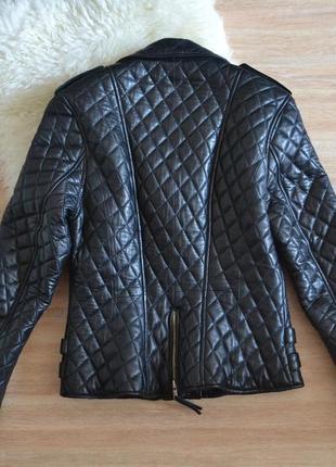 Шикарна куртка косуха з натуральної шкіри2