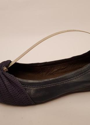 Bottero! бразилия! красивые удобные кожаные балетки темно- синего цвета4