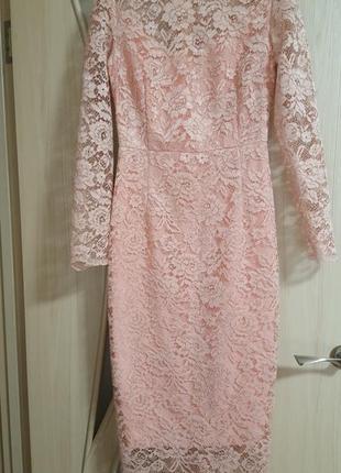 Платье футляр, кружево1