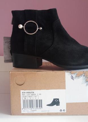 Ботинки черевики кожаные замшевые3