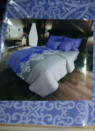 Пакистан! евро постельный комплект - расцветки в ассортименте