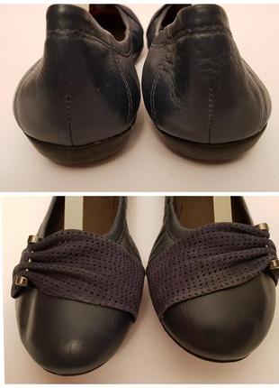 Bottero! бразилия! красивые удобные кожаные балетки темно- синего цвета7