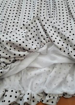 Романтична сукня-тюльпанчик в горошок8 фото