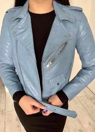 Куртка zara голубого цвета. реальному покупателю скидка