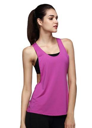 Женская спортивная майка для фитнеса, йоги, бега, одежда в спортзал. код:2201061
