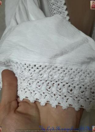 Новая фирменная f&f белоснежная  пляжная туника/накидка/кардиган,размер хл3