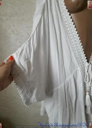 Новая фирменная f&f белоснежная  пляжная туника/накидка/кардиган,размер хл4