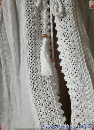 Новая фирменная f&f белоснежная  пляжная туника/накидка/кардиган,размер хл7