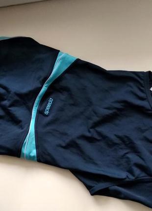 36-38р. сплошной синий купальник для плавания, бассейна speedo endurance5