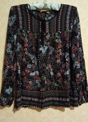 Красивая цветочная блуза1