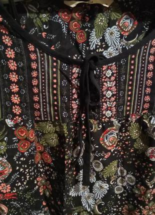 Красивая цветочная блуза3