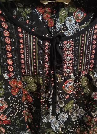 Красивая цветочная блуза4