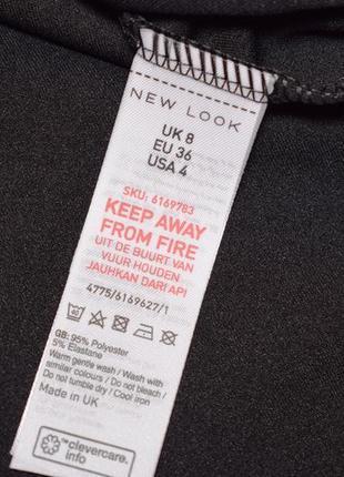 Черное боди, комбидрес c фигурным вырезом от new look размер uk 8/s3