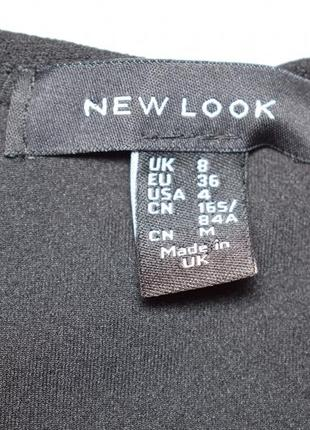 Черное боди, комбидрес c фигурным вырезом от new look размер uk 8/s4