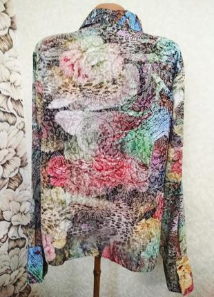 Блуза, рубашка хлопок+вискоза, большой размер/witteven/1+1= 50% скидки на 3ю вещь.4