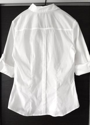 Базовая котоновая белая рубашка h&m3