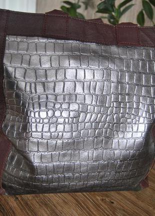 Кожаная сумка шоппер тоут stow london / шкіряна сумка6