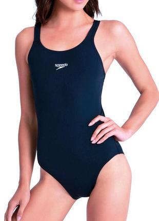 36-38р. сплошной чернильный купальник для плавания, бассейна speedo