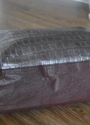 Кожаная сумка шоппер тоут stow london / шкіряна сумка7