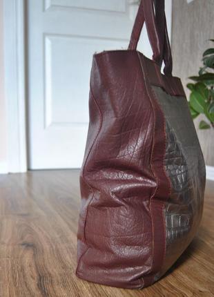Кожаная сумка шоппер тоут stow london / шкіряна сумка3